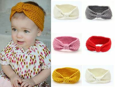 Newborn Baby Infant Kids Girls Knitted Crochet Headband Hair Band Winter