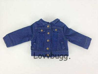 "Lovvbugg Denim Jeans Jacket for 18"" American Girl Doll Clothes"