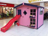 SANTA'S ELVES ARE NOW BOOKING THE BEST DELIVERY SLOTS FOR XMAS PLAYHOUSES KIDS SHEDS BE QUICK