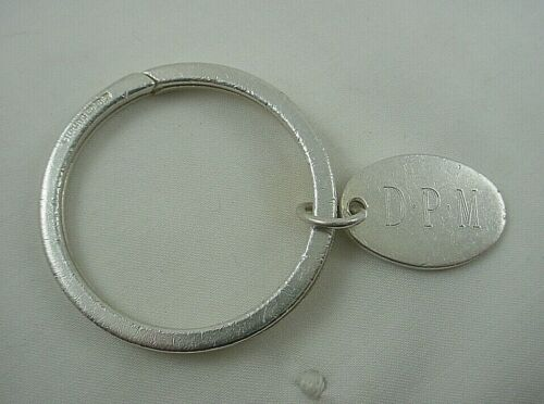 TIFFANY & CO Sterling Silver 925 Oval Tag Key Ring