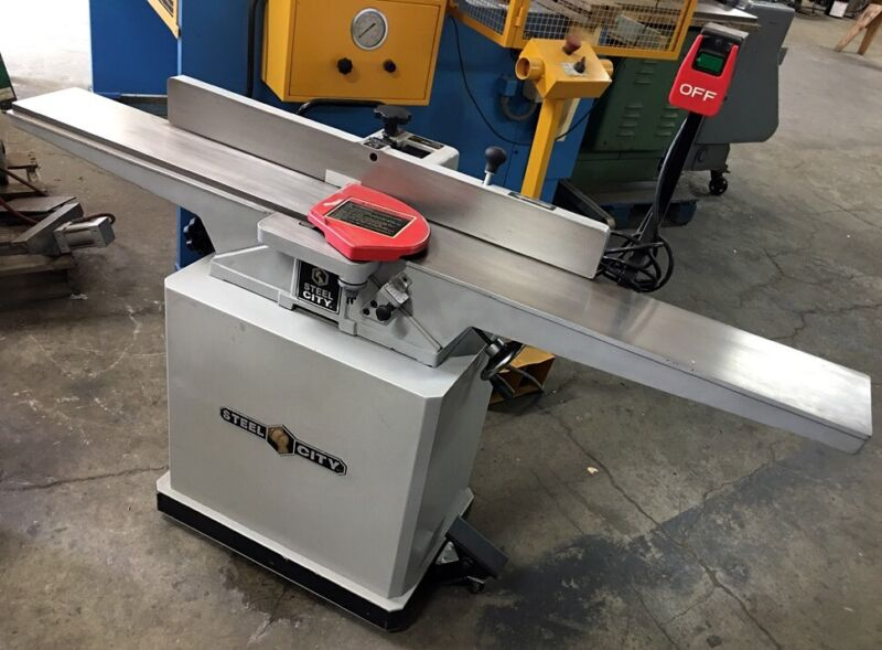 """NICE!! 6"""" 40615 STEEL CITY HEAVY DUTY WOODWORKING JOINTER 1.5HP SINGLE PHASE!"""