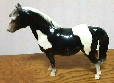 Breyer Horse Shetland Pony #21 1960's Black & White Mark Hess Vintage
