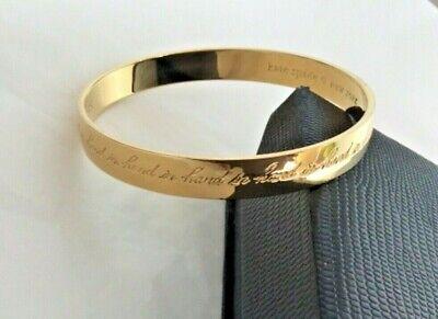 Kate Spade New York Hand in Hand Bracelet 12 Karat Gold Plated Jewellery Bangle