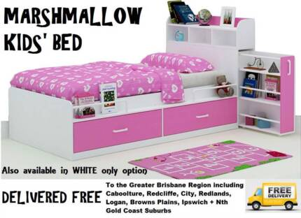 BRAND NEW Single Kids Boys Girls Bed With Storage DELIVERED FREE