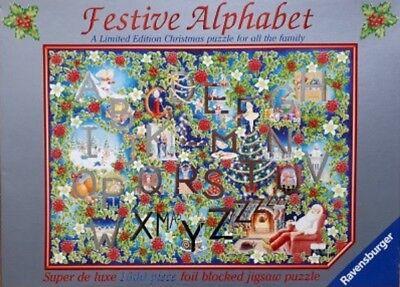 Ravensburger Block - Ravensburger FESTIVE ALPHABET 1000 Pieces Jigsaw Puzzle Christmas Foil Blocked