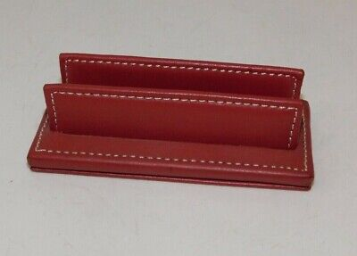 Coach Red Leather Counter Top Display Business Card Holder Desk Accessory