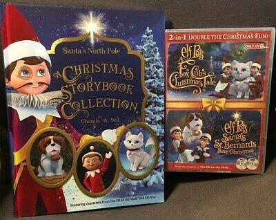 NEW ELF ON THE SHELF ELF PETS DVD & STORYBOOK SET FOX CUBS & ST BERNARDS TALE
