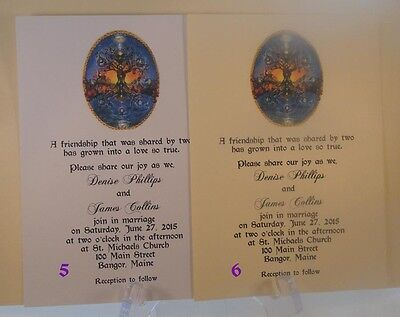 50 LIVING TREE OF LIFE WEDDING INVITATIONS CUSTOMIZED AND PERSONALIZED FOR YOU (Tree Wedding Invitations)