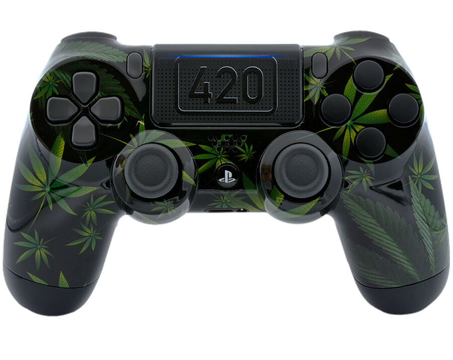 420 BLACK PS4 PRO Rapid Fire 40 MODS Controller for COD, Destiny &More