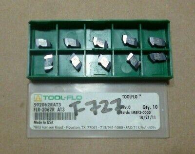 Tool-flo Flr-2062 Grade At3 Carbide Grooving Insert 10 Pcs
