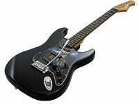 FOR SALE; Beson ST midnight graffix electric guitar and Amp