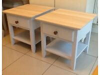 Beautiful pair of bedside tables, with drawer & shelf. DELIVERY AVAILABLE