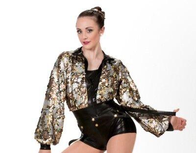 Art Stone sequin jacket dance jazz hip hop pageant costume Halloween large - Halloween Sequin Jacket