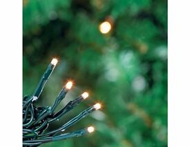 clear colour christmas lights approx 400 or more with speed and setting switch
