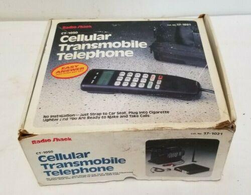 Vintage Radio Shack Car Bag Phone Transmobile Cellular Telephone CT-1050,17-1021