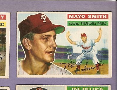 1956 Topps BB #60 Mayo Smith/Phillies EX (Bb Mayonnaise)