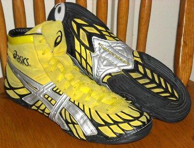 d87a3c58780c OG Dan Gable Ultimate 1 Wrestling Shoes ASICS Size 12 Model JY600 Yellow    Black