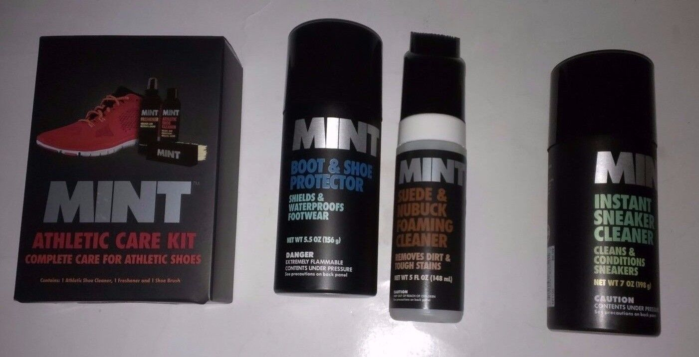 Mint Athletic/Foam/Boot & Shoe Protector/Instant Sneaker Cleaner/Suede & Nubuck/