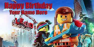 Birthday banner Personalized 4ft x 2 ft  The Lego Movie - Lego Birthday Banner
