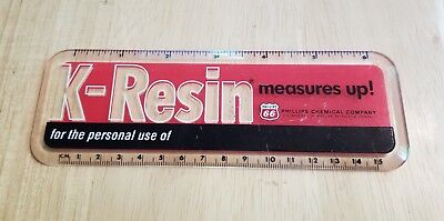 Vintage K-Resin Measures Up Phillips Chemical Company 66 Gas Oil Company Ruler