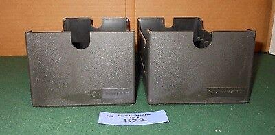 2 Vintage KENWOOD Black Cassette Tape BOX Holder Storage Retro