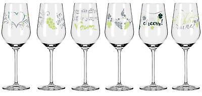 6er Set Ritzenhoff Herzkristall WHITE Weißweingläser 01-06 ALLE MOTIVE 2021