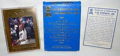 1996 SSCA Gold Premier CAL RIPKEN JR Signature 22k Gold LTD ED 406 / 21310