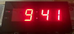 BIg Precision Digital LED Wall Clock Old Alarm Clock Look Time RED NEW