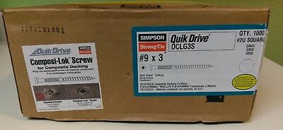 Simpson Quick Drive Dclg3s Gray Composi-lok Quick Guard Coated 9 X 3 Qty 1000