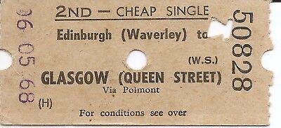 B.R.B. Ultimatic Ticket - Edinburgh Waverley to Glasgow Queen Street