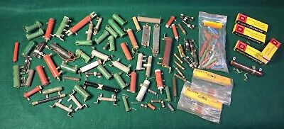 Large Lot Of Vintage Resistors - Nos And Salvaged