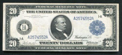FR. 964 1914 $20 TWENTY DOLLARS FRN FEDERAL RESERVE NOTE BOSTON, MA VF/XF