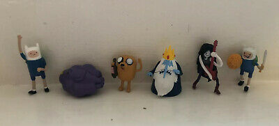 Lot of 6 Adventure Time Collectors Pack Mini Fin Jake Ice King Figures
