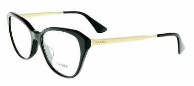 Prada PR28SV 1AB1O1 54MM Black Cateye Eyeglasses Black Optical (Prada Optical Sunglasses)