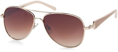 Damen Pilotenbrille getönt Sonnenbrille mit lackierten Bügeln und Strass