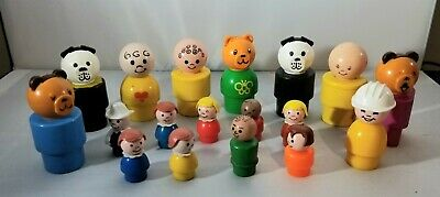 VINTAGE 70s/80s FISHER PRICE LITTLE PEOPLE LOT (18)