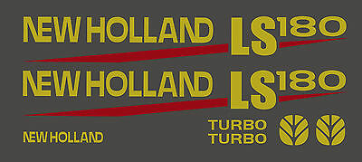 New Holland Ls180 Skid Steer Decal Kit For Your Loader Ls 180