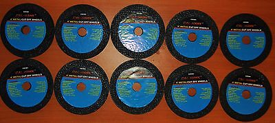 """New 10 Piece 4"""" inch metal cut off wheel disc for die grinder 1/16"""" thick 5/8"""""""