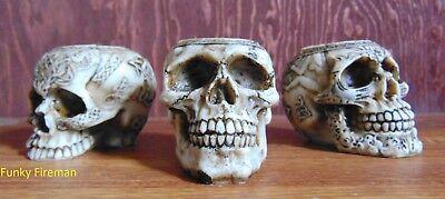 Set of 3 ~ Skull tea T light candle holders ~ Celtic Gothic cool ornament gift ](Halloween Celtic Origins)