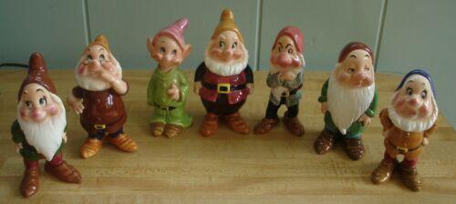 Vintage 7 Dwarfs Figurines Enesco Disney Productions Japan w/Tags