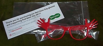 RED NOSE DAY Specsavers Comic Relief Glasses - Spectacles 2017