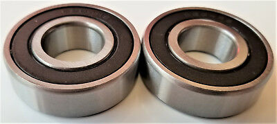6204-2rs Rubber Sealed Ball Bearing 20x47x14 Lubricated 6204rs Qty Of 2 Pcs