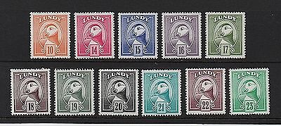 LUNDY Stamps 1982 Puffin Definitives - Full set - U/M