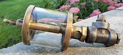 Vtg Essex Hit Miss Engine Sight Oiler Brass