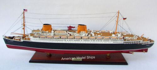 "SS Europa Ocean Liner Ship Model 37"" - Handmade Wooden Ship Model Scale 1:300"