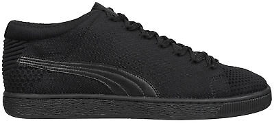 Puma Basket evoKnit 3D Mens Trainers Black Fasion Sport Stylish Sneakers