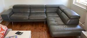 GREY LEATHER CHAISE AND LOUNGE FOR SALE - REDUCED FOR QUICK SALE! Maroubra Eastern Suburbs Preview