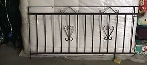 Cloture metal fence Black strong excellent condition