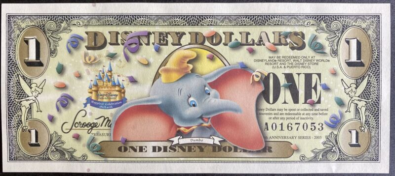 2005 Disney 50th Anniversary series $1 Dumbo ( A Series ) Uncirculated