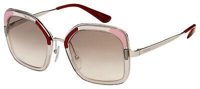 Prada Sunglasses PR 57US LOH1L0 54 Transparent Frame | Brown Gradient (Prada Square Sunglasses)